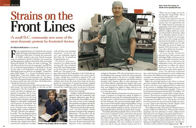 Article Preview: Strains on the Front Lines, January 2001   Maclean's