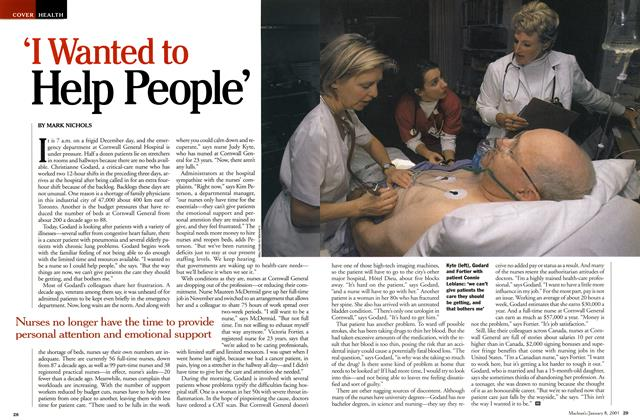 Article Preview: 'I Wanted to Help People', January 2001 | Maclean's