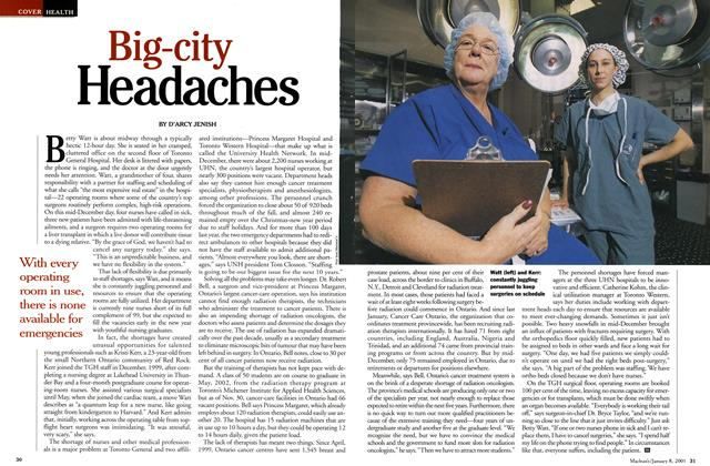 Article Preview: Big-city Headaches, January 2001 | Maclean's