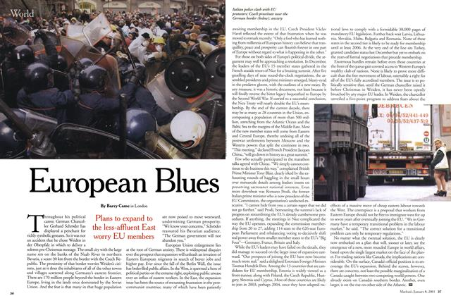 Article Preview: European Blues, January 2001 | Maclean's