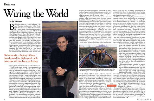 Article Preview: Wiring the World, January 2001 | Maclean's