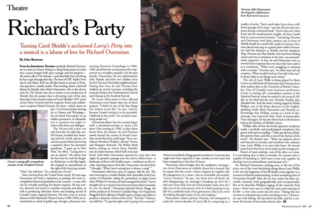 Article Preview: Richard's Party, January 2001 | Maclean's