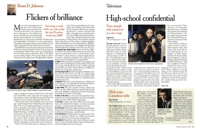 Article Preview: Flickers of brilliance, January 2001 | Maclean's