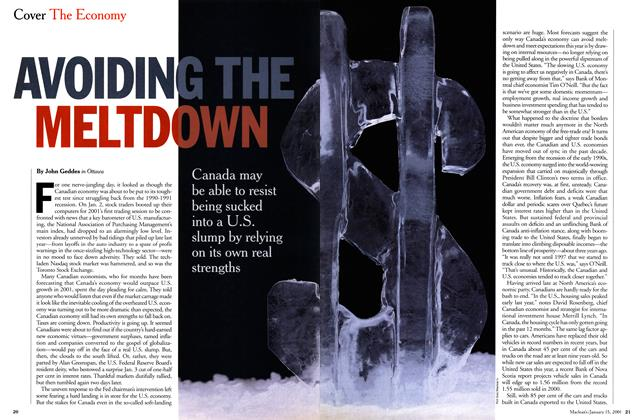 Article Preview: AVOIDING THE MELTDOWN, January 2001 | Maclean's