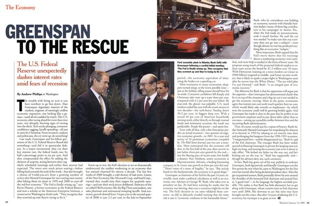Article Preview: GREENSPAN TO THE RESCUE, January 2001 | Maclean's