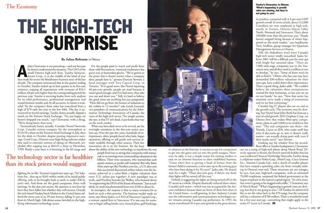 Article Preview: THE HIGH-TECH SURPRISE, January 2001 | Maclean's