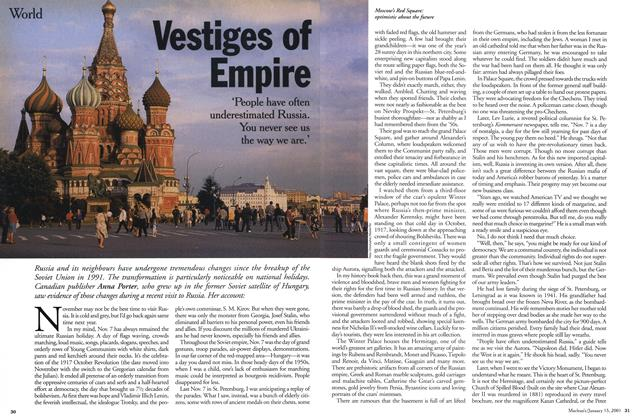 Article Preview: Vestiges of Empire, January 2001 | Maclean's