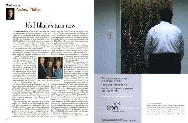 Article Preview: It's Hillary's turn now, January 2001 | Maclean's
