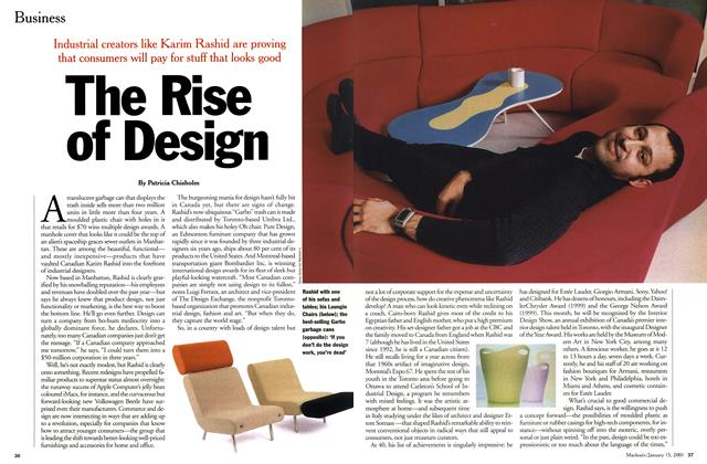Article Preview: The Rise of Design, January 2001 | Maclean's