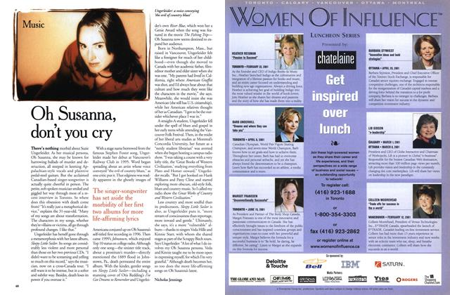 Article Preview: Oh Susanna, don't you cry, January 2001 | Maclean's