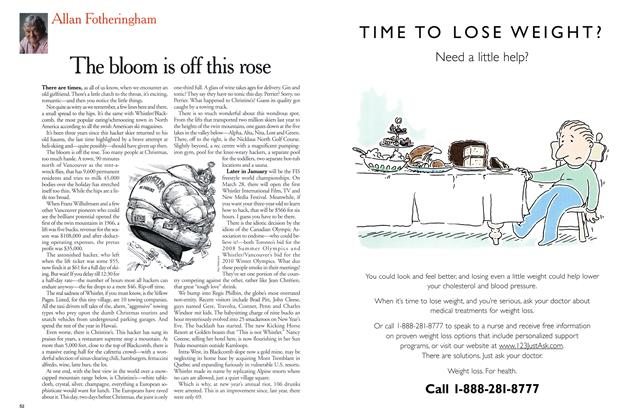 Article Preview: The bloom is off this rose, January 2001 | Maclean's