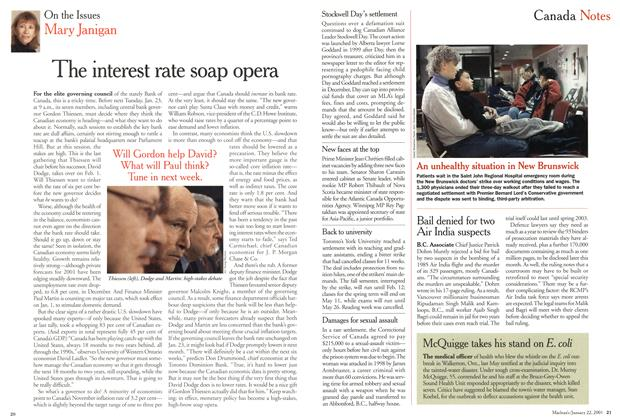 Article Preview: The interest rate soap opera, January 2001 | Maclean's