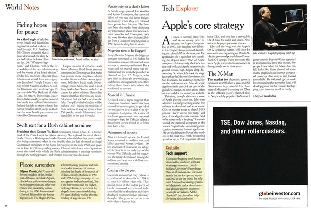 Article Preview: Apple's core strategy, January 2001 | Maclean's