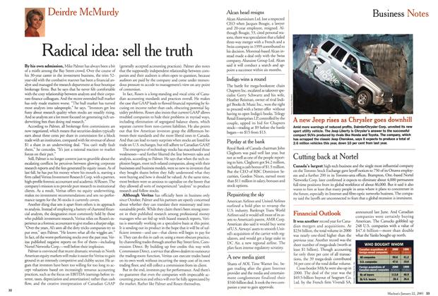 Article Preview: Radical idea: sell the truth, January 2001 | Maclean's