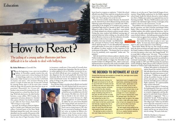Article Preview: How to React?, January 2001 | Maclean's