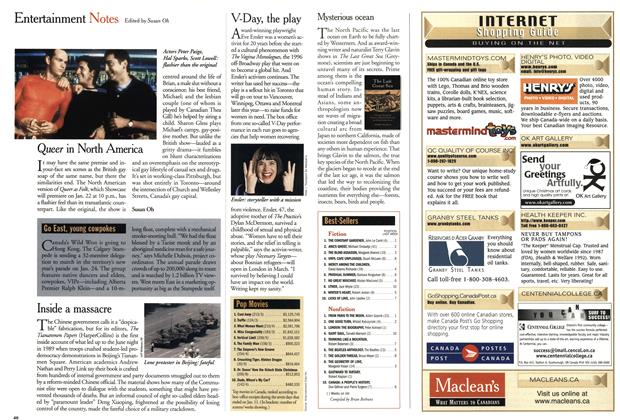 Article Preview: Entertainment Notes, January 2001 | Maclean's