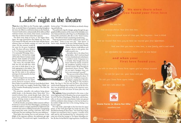 Article Preview: Ladies' night at the theatre, January 2001 | Maclean's