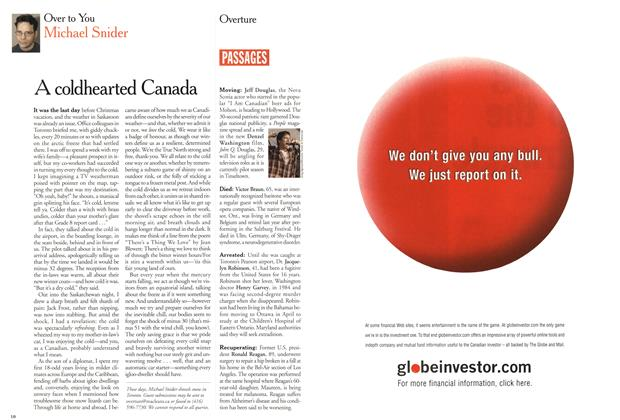 Article Preview: A coldhearted Canada, January 2001 | Maclean's