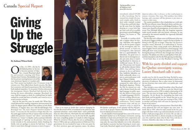 Article Preview: Giving Up the Struggle, January 2001 | Maclean's