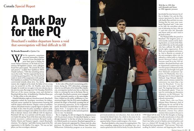 Article Preview: A Dark Day for the PQ, January 2001 | Maclean's