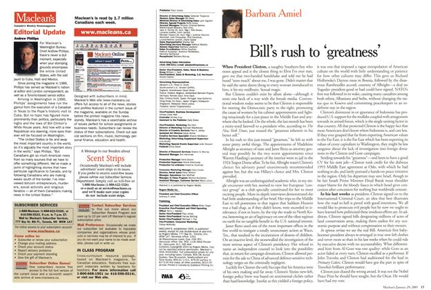 Article Preview: Bill's rush to 'greatness', January 2001 | Maclean's