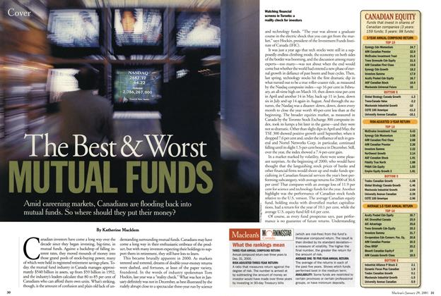 Article Preview: The Best & Worst MUTUAL FUNDS, January 2001 | Maclean's