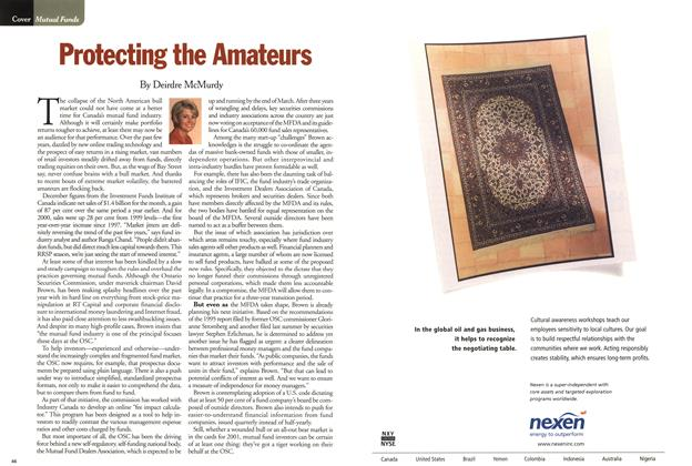 Article Preview: Protecting the Amateurs, January 2001 | Maclean's