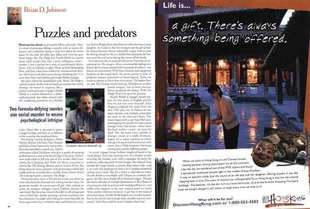 Article Preview: Puzzles and predators, January 2001   Maclean's