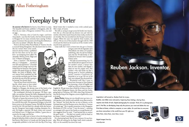Article Preview: Foreplay by Porter, January 2001   Maclean's