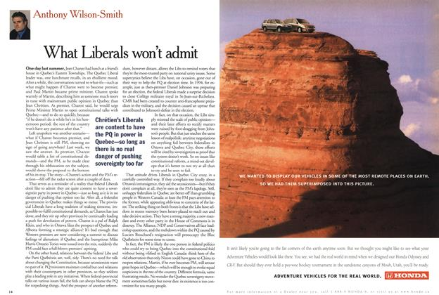 Article Preview: What Liberals won't admit, January 2001 | Maclean's