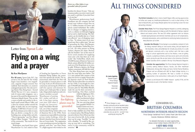 Article Preview: Flying on a wing and a prayer, February 5, 2001 2001 | Maclean's