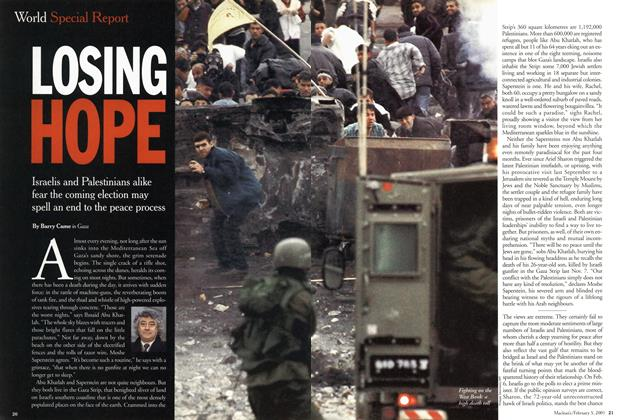 Article Preview: LOSING HOPE, February 2001 | Maclean's