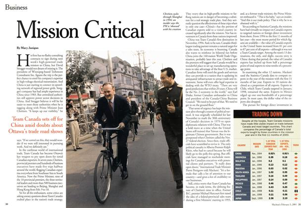 Article Preview: Mission Critical, February 2001 | Maclean's