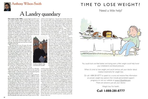Article Preview: A Landry quandary, February 5, 2001 2001 | Maclean's