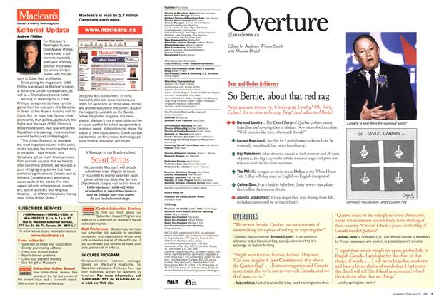 Article Preview: Overture, February 2001 | Maclean's