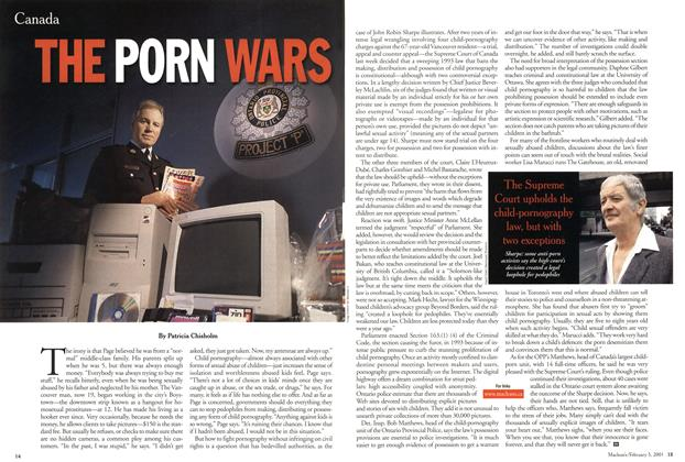 Article Preview: THE PORN WARS, February 5, 2001 2001 | Maclean's
