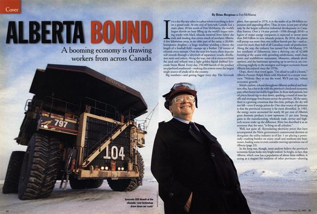 Article Preview: ALBERTA BOUND, February 12, 2001 2001 | Maclean's