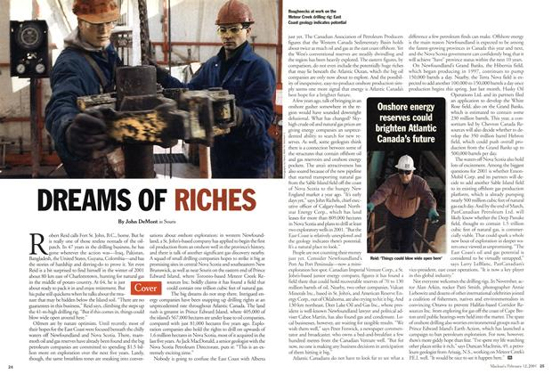 Article Preview: DREAMS OF RICHES, February 12, 2001 2001 | Maclean's