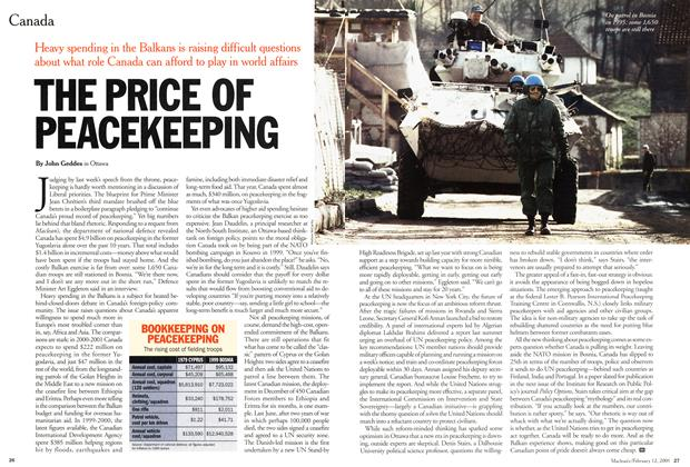 Article Preview: THE PRICE OF PEACEKEEPING, February 2001 | Maclean's