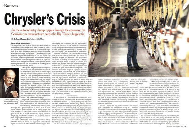 Article Preview: Chrysler's Crisis, February 12, 2001 2001 | Maclean's