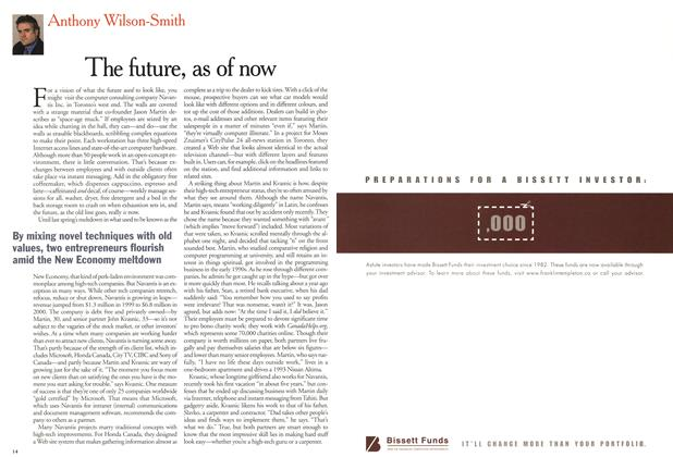 Article Preview: The future, as of now, February 2001 | Maclean's