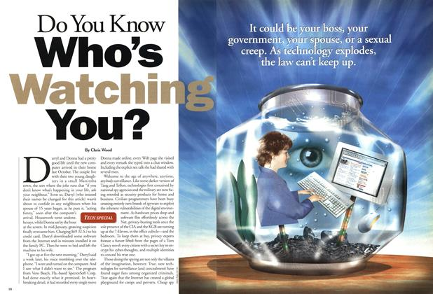 Article Preview: Do You Know Who's Watching You?, February 2001 | Maclean's