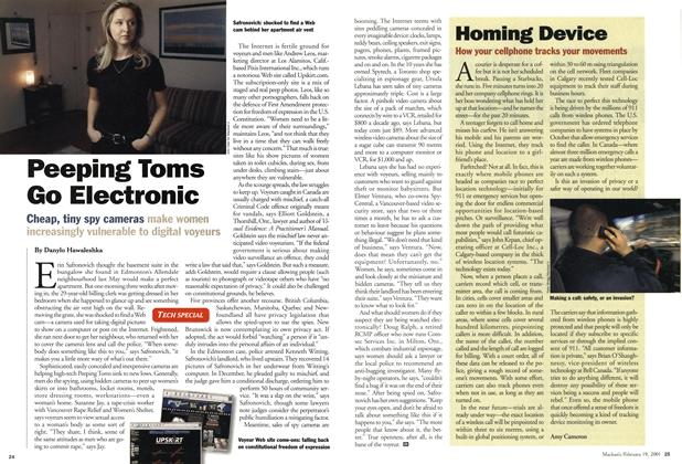 Article Preview: Homing Device, February 2001 | Maclean's