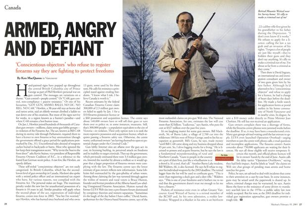 Article Preview: ARMED, ANGRY AND DEFIANT, February 2001 | Maclean's