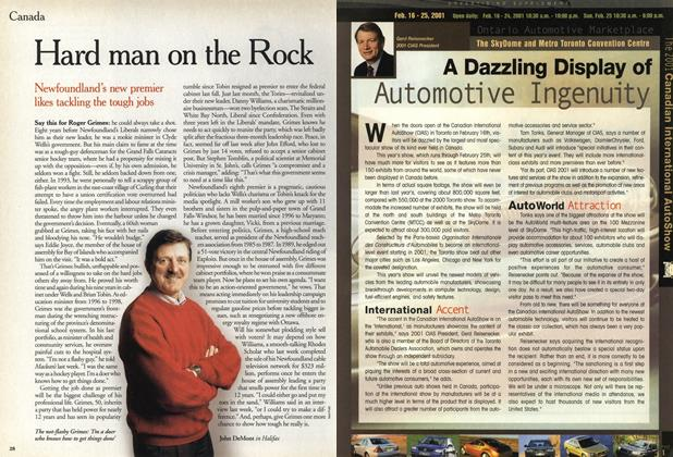 Article Preview: Hard man on the Rock, February 2001 | Maclean's