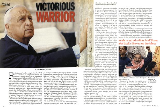 Article Preview: VICTORIOUS WARRIOR, February 2001 | Maclean's