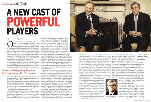 Article Preview: A NEW CAST OF POWERFUL PLAYERS, February 2001 | Maclean's