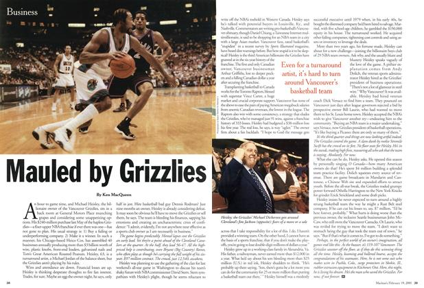 Article Preview: Mauled by Grizzlies, February 2001 | Maclean's