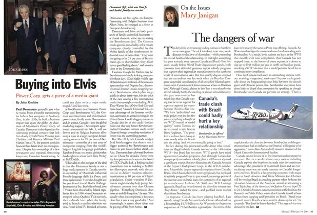 Article Preview: The dangers of war, February 2001 | Maclean's