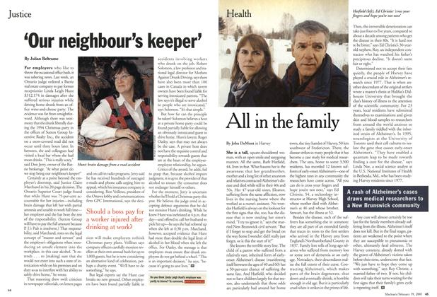 Article Preview: 'Our neighbour's keeper', February 2001 | Maclean's
